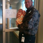 Bear warning at Providence Hospital